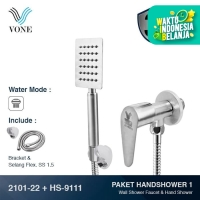 VONE 2101-22 + HS-9111 Paket Hand Shower 1 - Stop Kran Stainless