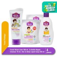 Sleek Travel Wash, Bottle Nipple Cleanser, 2in1 Liquid Wash Bundling