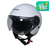Cargloss YRM Micrometric Buckle Helm Half Face - White