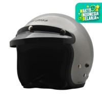 Helm Cargloss CF Retro Silver Met - Sesuai difoto, SIZE L