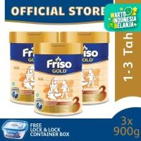 Friso Gold 3 Susu Formula Anak 900g [3 pcs] Free Gift - Container Box