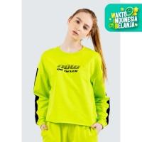 Colorbox Graphic Loose Sweatshirt I:Stkfth120E067 Yellow