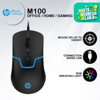 Mouse Gaming HP M100S - 1600DPI RGB USB Wired