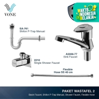 VONE A2306-77 + SA-761 + 2210 + FLEX SS-40 CM Paket Wastafel 2