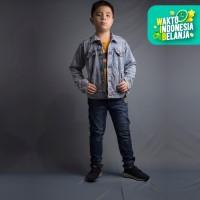 Jaket Jeans Denim Outdoor Washed anak remaja Unisex - Jfashion Shens