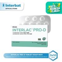 Interlac Pro D Lozenges Tablet Hisap Mint - 3 blister @10 tablet