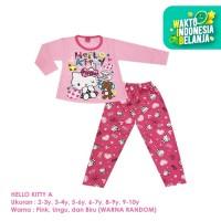 Baju Setelan Anak Perempuan Panjang 2-10 Tahun Hello Kitty A Shirton - HELLO KITTY A, 2-3y Panjang