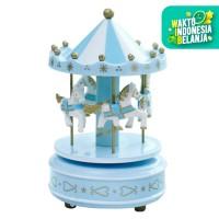 Mainan Anak Carousel Music Box Kuda Dufan Dunia Fantasi Kuda Mutar