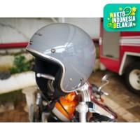 Cargloss Retro Howard Smith Helm Half Face - Dark Grey
