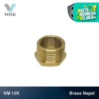 """VONE NV-12K Nepel Volk Ring 3/4"""" M x 1/2"""" F Sok Keran Kran Kuningan"""