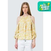 Colorbox Cold Shoulder printed blouse I-Blwfcr120D017 White
