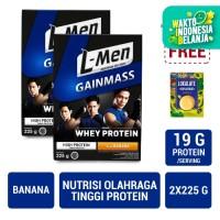 Twin Pack: L-Men Gain Mass Banana 225gr FREE Lokalate Kopi Alpukat