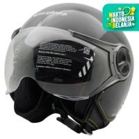 Helm Cargloss YR HC Ghotic Helm Half Face - Deep Black