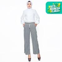 Celana Kulot Panjang Corak Salur Muslim Wanita Model Terbaru - Lidia