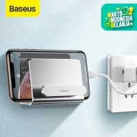 BASEUS WALL MOUNTED METAL GANTUNGAN TEMPEL DINDING PHONE STAND HOLDER