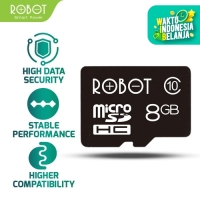 ROBOT 8GB Memory Card Micro SD Class 10 Speed with Package