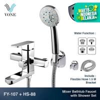 VONE FY-107 + HS-88 Set Keran Kran Mixer Bathtub Shower Panas Dingin