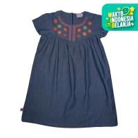Rodeo Junior Girl x Erika Santoso Dress Anak - Denim Flower - 8