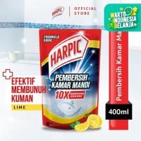 Harpic Pembersih Kamar Mandi Lime 400ml Pouch - Efektif Membunuh Kuman
