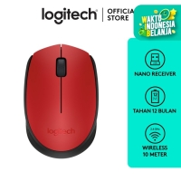 Logitech M171 Mouse Wireless - Red