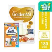Tropicana Slim Goldenmil Vanilla Turmeric (6 Sc) FREE Lifree Pants (L)