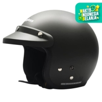 Helm Cargloss CF Retro Army Black Doff - Hitam, SIZE XL