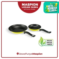Maspion Frypan Set 18 Cm + 23 Cm 2 Pcs Kuning - Frypan Antilengket