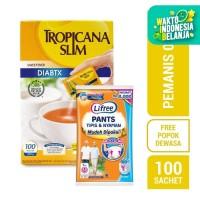 Tropicana Slim Sweetener DIABTX (100 Sachet) FREE Lifree Pants (L)
