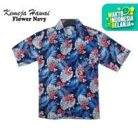 FortKlass FLOWER Kemeja Hawaii Bali Pria Motif Kemeja Pantai Cowok