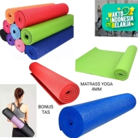 matrass yoga yoga mat karpet spons 4 mm bonus tas