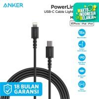 Kabel Charger Anker PowerLine Select C to Lightning 6ft Black - A8613
