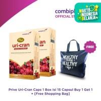 Prive Uri-Cran Plus1 Box Isi 15 Sacset Buy 1 Get 1 + Free Shopping Bag