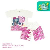 Baju Setelan Anak Perempuan Hello Kitty Model A Shirton - KITTY A, Size O