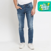 PAPPERDINE JEANS 211 Bleach 'Selvedge' Stretch Celana Pria Panjang