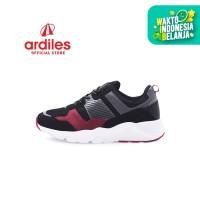 Ardiles Men Ignazio Sepatu Sneakers - Hitam Merah