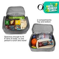Lunch Cooler Bag Tas Bekal Makanan Anak Tahan Panas Dingin 2 Susun OMG