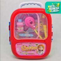 Mainan Dokter Dokteran Tas Koper Doctors Trolley Playset Stetoskop