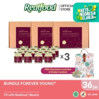 Realfood Triple Bundle Forever Young+ Free Lunch Bag and Masker