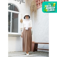 Mybamus Pleated Skirt Mocca M12473 R7S1