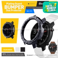 SIKAI BUMPER PLATING Case Screen Protector Amazfit GTR 47mm Cover - BLACK