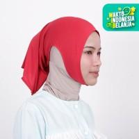 Zoya Inner Kerudung Ciput Hijab - Ciput Telinga Naya Rose Red