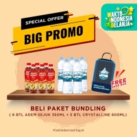 Adem Sejuk 350ml - [6 pcs] + Crystalline 600ml - [5 Pcs] + Shoebag