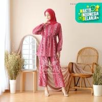 Pajamas Set Celana Muslim BUSUI Friendly Batik 01