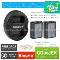 KingMa Paket Complete Battery Charger Set NP-FW50 Sony Alpha & NEX Etc