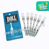 Bursa Dapur Super Doll Garpu kue 6 pcs / pack
