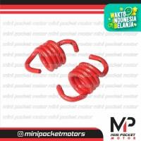 Per Kampas Ganda Racing Merah Motor Mini GP / Trail isi 2