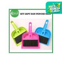 Mini Dustpan Set Sapu dan Pengki / Sapu Pengki Set Mini / Serokan Mini