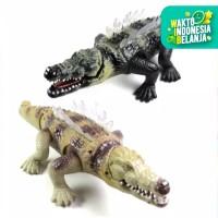 Mainan anak electric buaya / crocodile bergerak , suara , dan lampu
