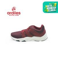 Ardiles Men Feroxit Sepatu Running - Maroon