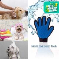 Sarung Tangan Sisir Bulu Pijat Grooming Anjing Kucing Sapi Pet Glove
